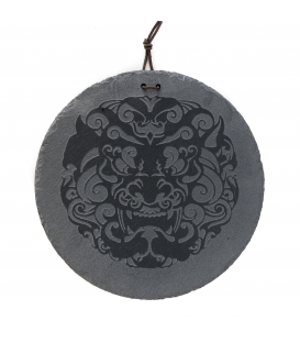 Stein Gravierte Schiefer 30 cm